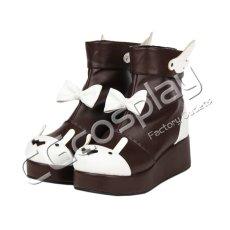 画像2: 激安! ラビット 冬靴 プラットフォーム・ソール 厚底 靴 ブーツ 大人|女性|  (2)