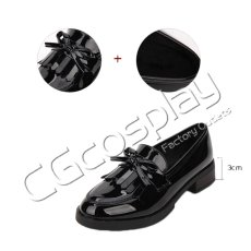 画像2: 激安! 猫姫 冬靴 学院タイプ 革靴 厚底 靴 ブーツ (2)