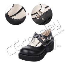 画像2: 激安! ロリータ 洋装 プラットフォーム・ソール 厚底 靴 ブーツ 大人|女性|  (2)