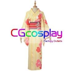 画像1: 激安! Fate/Grand Order FGOxGoogle Playギフトカード マシュ・キリエライト 浴衣 コスプレ衣装 (1)