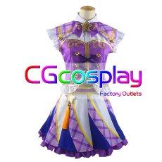 画像1: 激安!! アイカツ! 紫吹蘭 パレード コスプレ衣装 (1)