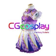 画像2: 激安!! アイカツ! 紫吹蘭 パレード コスプレ衣装 (2)