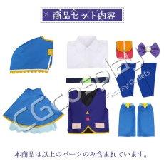 画像9: 激安!! アイカツ!   チョコポップ探偵 紫吹 蘭 コスプレ衣装 (9)