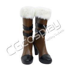 画像1: 激安!! バーチャルYouTuber Vtuber ホロライブ5期生 雪花ラミィ コスプレ靴/ブーツ コスプレ衣装 (1)
