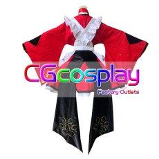 画像2: 激安!! Fate/Grand Order フェイト・グランドオーダー FGO 玉藻の前 メイド コスプレ衣装 (2)