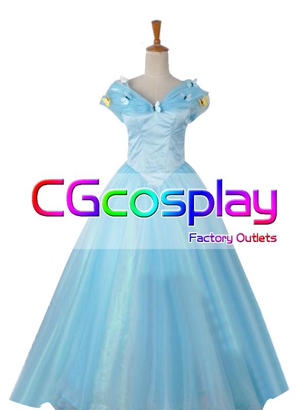 画像1: 激安!! ディズニー シンデレラ Cinderella シンデレラ ドレス コスプレ衣装 (1)