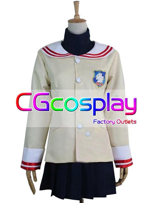 画像1: 激安!! CLANNAD(クラナド) 私立光坂高校 女子制服 コスプレ衣装 (1)