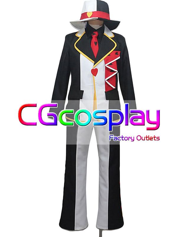 画像1: 激安!! ディズニー ハロウィン 不思議の国のアリス ジャックハート コスプレ衣装 (1)
