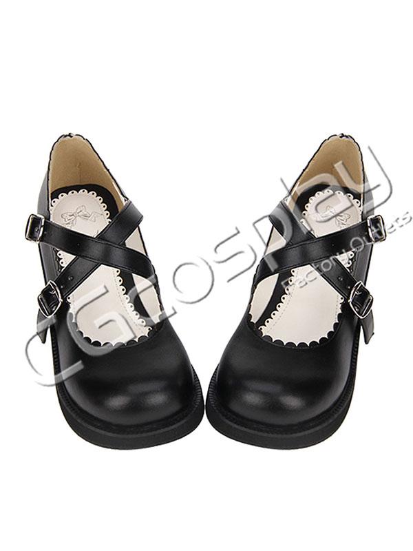画像1: 激安! ロリータ 洋装 プラットフォーム・ソール 厚底 靴 ブーツ 大人|女性|  (1)