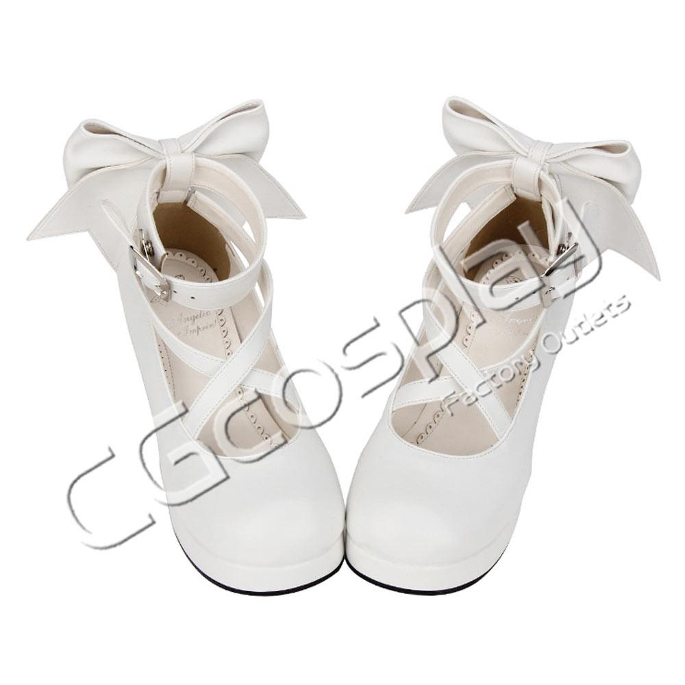 画像1: 激安! 魔法少女マドカ   プリンセス ハイヒール 靴 ブーツ (1)