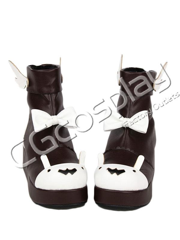 画像1: 激安! ラビット 冬靴 プラットフォーム・ソール 厚底 靴 ブーツ 大人|女性|  (1)