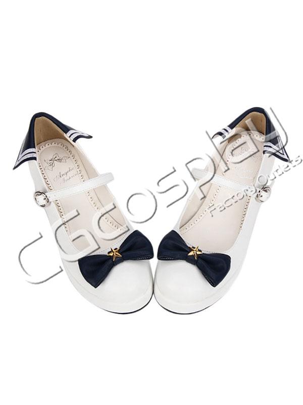 画像1: 激安! 秋冬 黒リボン プラットフォーム・ソール 厚底 靴 ブーツ 大人|女性|  (1)