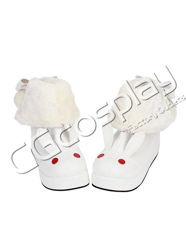 画像1: 激安! ラビット 冬靴 ラウンド靴 ブーツ 大人 女性   (1)
