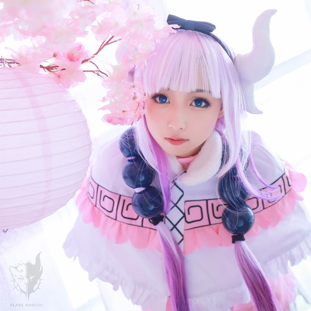 画像1: 激安!! 小林さんちのメイドラゴン カンナカムイ カンナ メイド服 コスプレ衣装 カンナ (1)