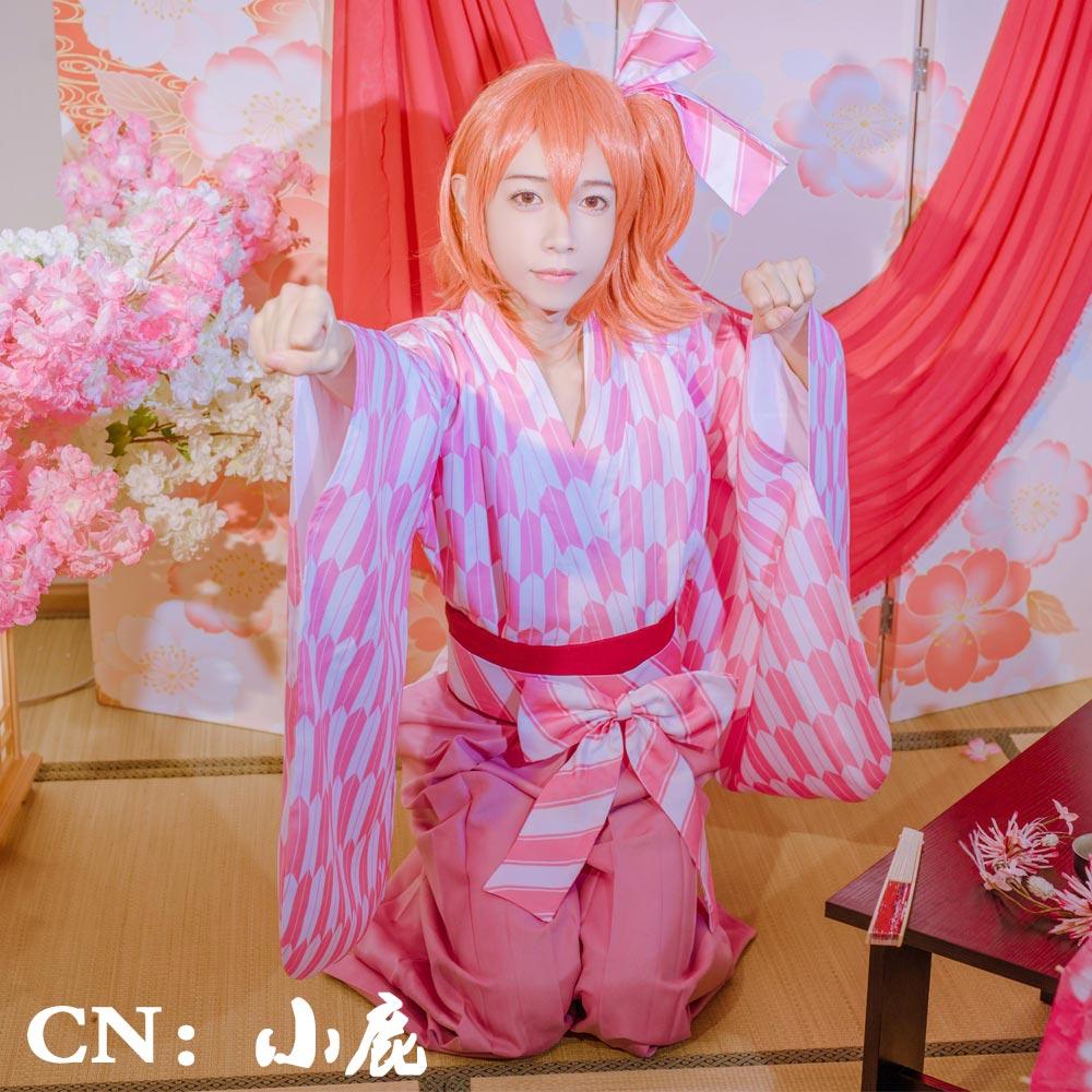 画像1: 「一部在庫」激安!!  Fate/GO(グランドオーダー)  春風遊歩道 ぐだ子 コスプレ衣装 (1)