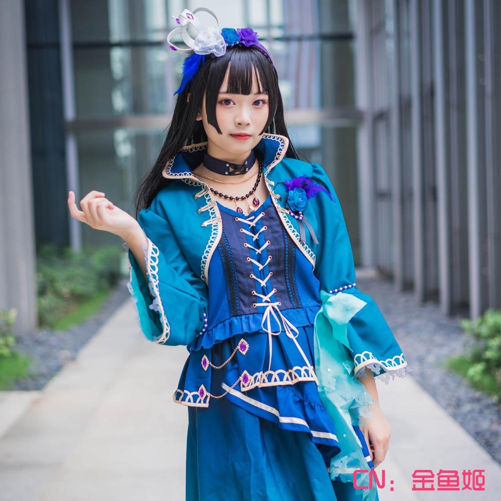 画像1: 激安!! BanG Dream!(バンドリ) Roselia 5th Single「Opera of the wasteland」 白金燐子 コスプレ衣装 (1)