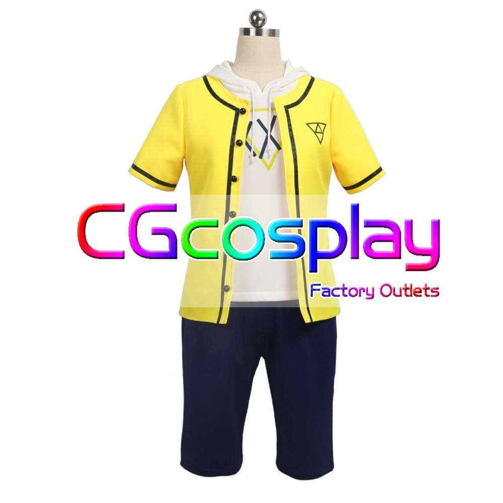 画像1: 「一部在庫」激安!! A3!(エースリー) 斑鳩三角 夏服 コスプレ衣装 (1)