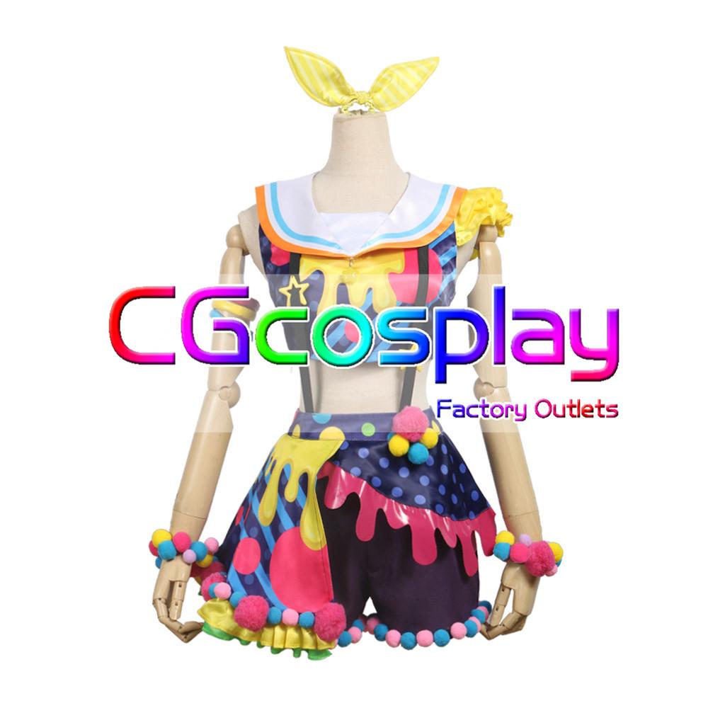 画像1: 「一部在庫」激安!! BanG Dream!(バンドリ) Poppin'Party New_Costumes 山吹沙綾 コスプレ衣装 (1)