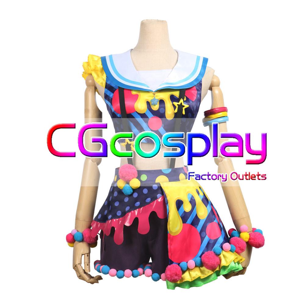画像1: 「一部在庫」激安!! BanG Dream!(バンドリ) Poppin'Party New_Costumes 花園たえ コスプレ衣装 (1)