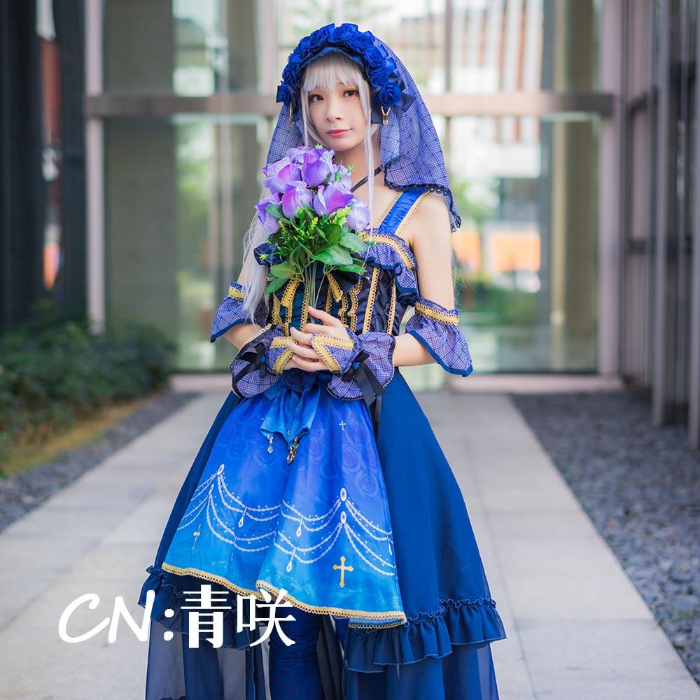 画像1: 激安!! BanG Dream!(バンドリ) 秋時雨に傘を Roselia Determination Symphony 湊友希那 コスプレ衣装 (1)