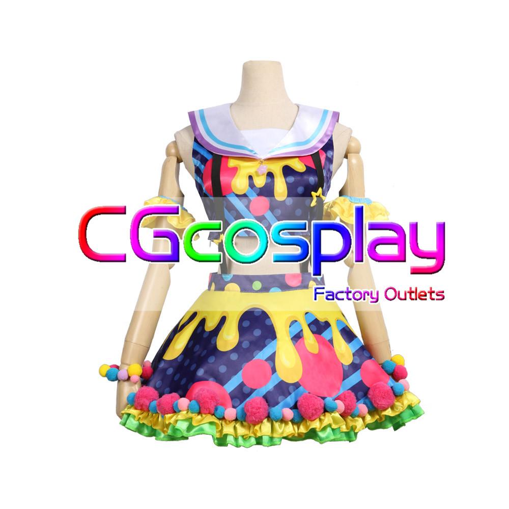 画像1: 激安!! BanG Dream!(バンドリ) Poppin'Party New_Costumes 市ヶ谷有咲 コスプレ衣装 (1)