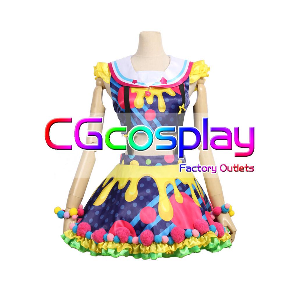 画像1: 激安!! BanG Dream!(バンドリ) Poppin'Party New_Costumes 戸山香澄 コスプレ衣装 (1)