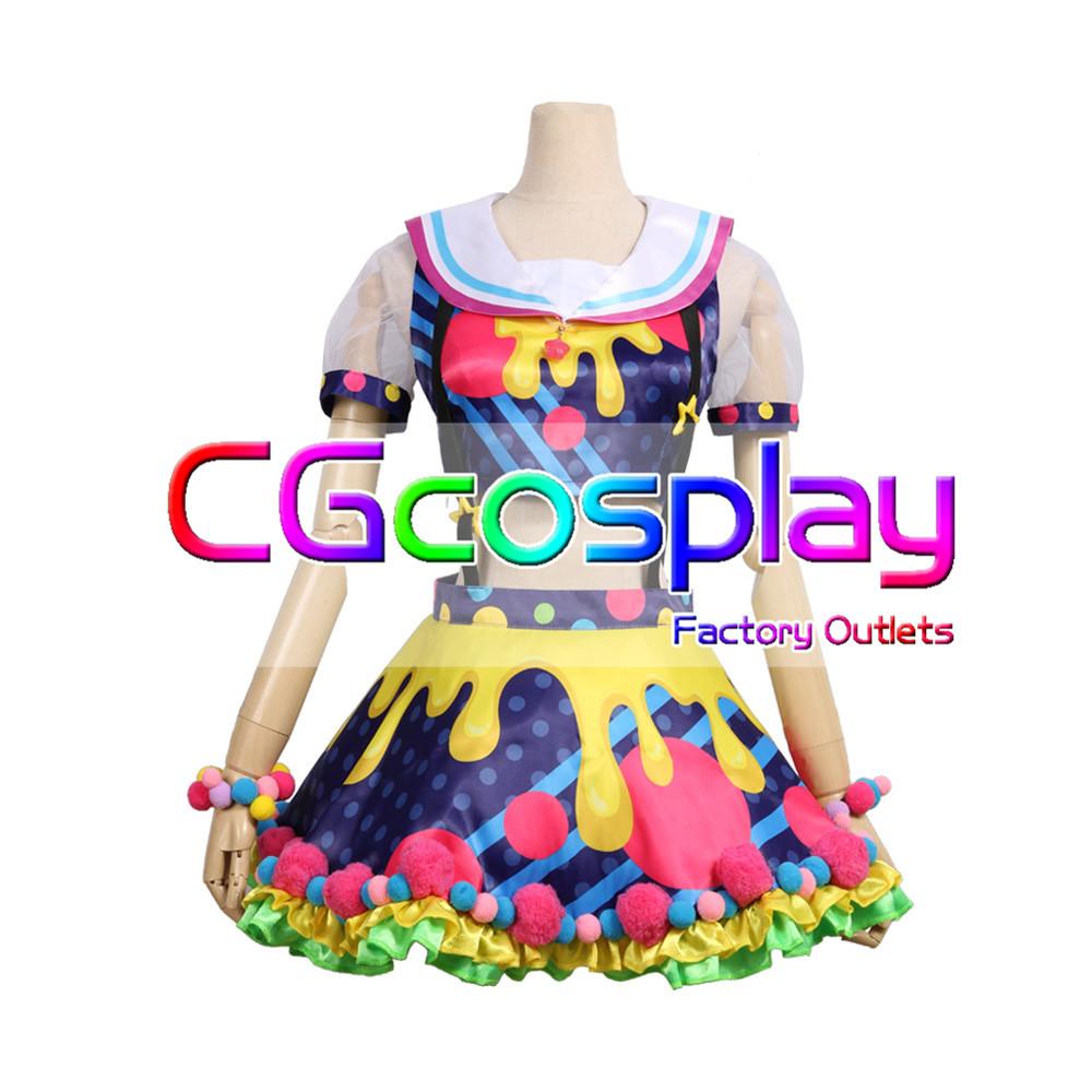 画像1: 激安!! BanG Dream!(バンドリ) Poppin'Party New_Costumes 牛込りみ コスプレ衣装 (1)
