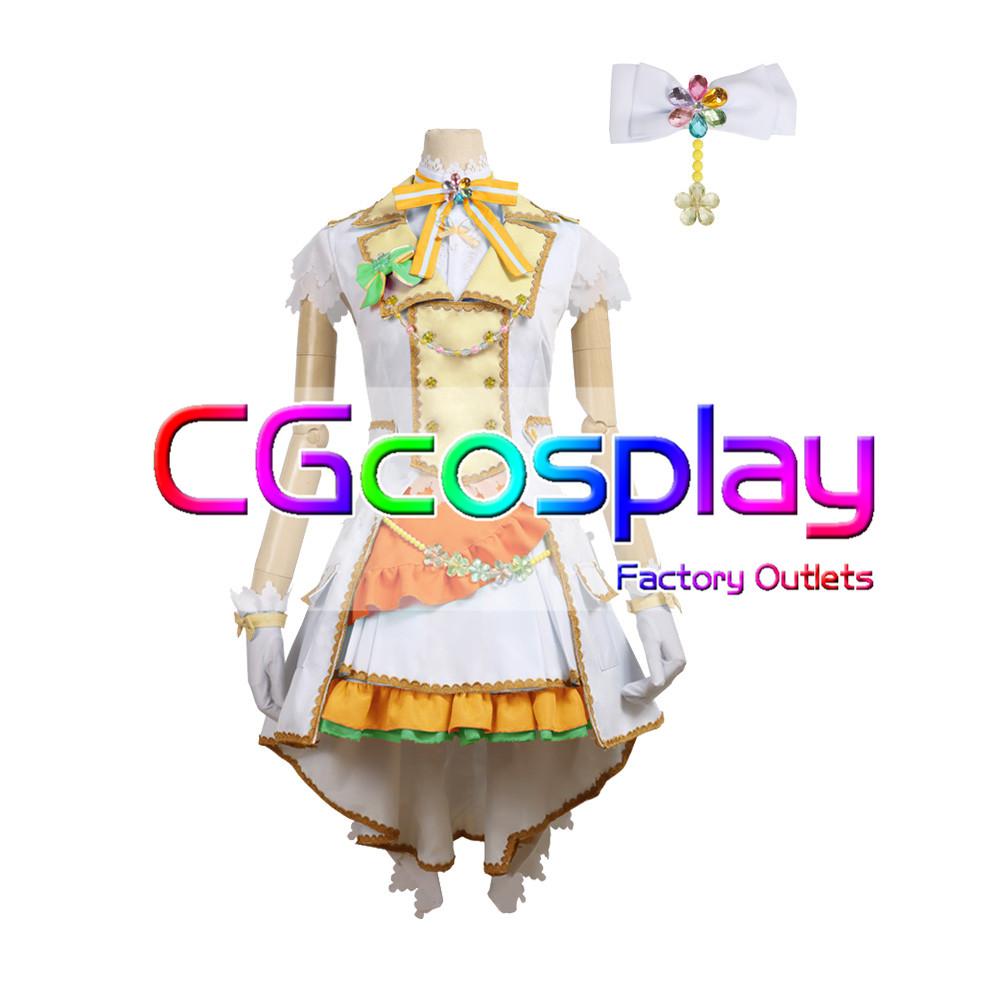 画像1: 「一部在庫」激安!! BanG Dream!(バンドリ) Pastel*Palettes セカンドキービジュアル 煌めくステージへ 白鷺千聖 コスプレ衣装 (1)
