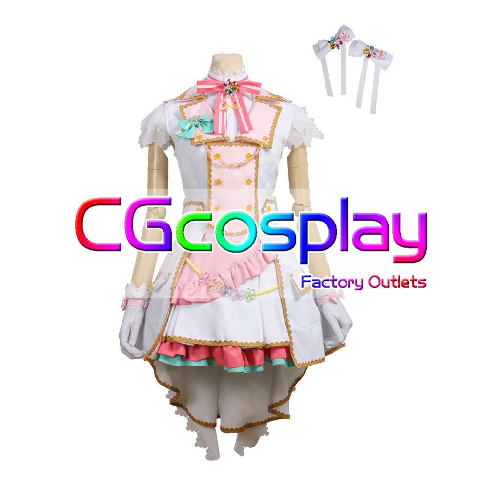 画像1: 「一部在庫」激安!! BanG Dream!(バンドリ) Pastel*Palettes セカンドキービジュアル 煌めくステージへ 丸山 彩 コスプレ衣装 (1)