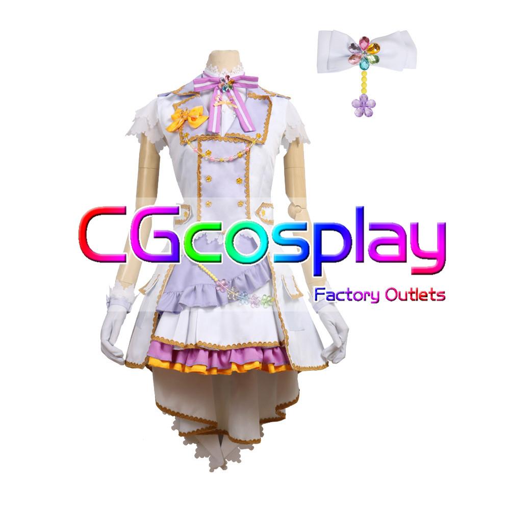 画像1: 「一部在庫」激安!! BanG Dream!(バンドリ) Pastel*Palettes セカンドキービジュアル 煌めくステージへ 若宮 イヴ コスプレ衣装 (1)