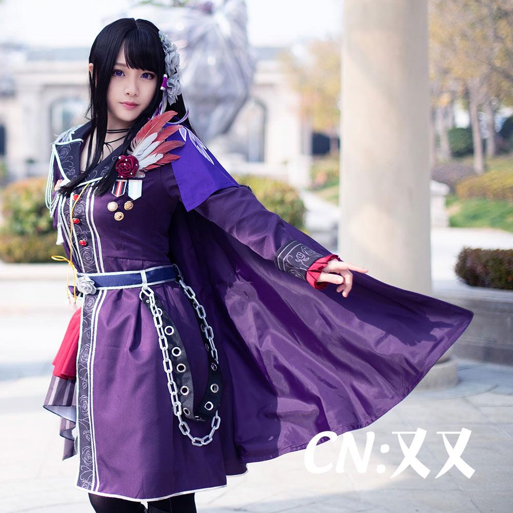 画像1: 「一部在庫」激安!! BanG Dream!(バンドリ) Roselia 3rd live 白金燐子 コスプレ衣装 (1)