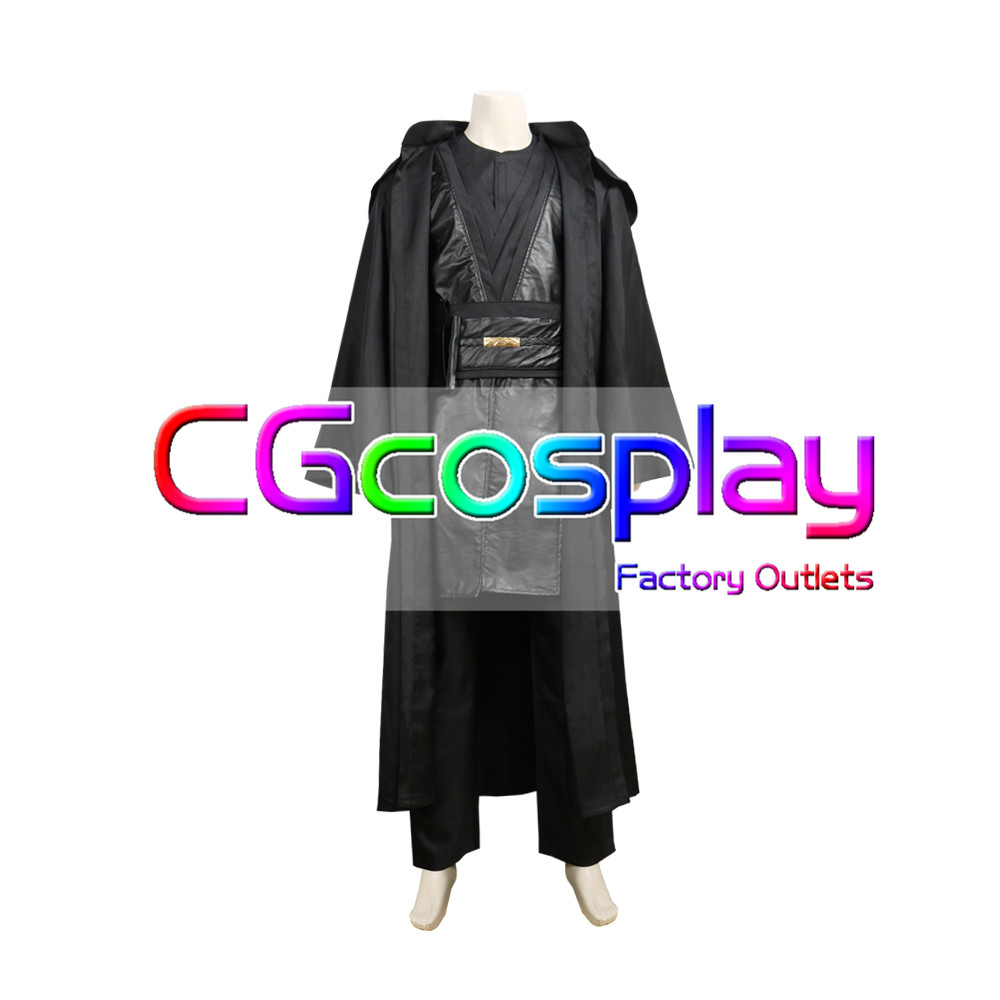 画像1: 激安!! スター・ウォーズ エピソード3/シスの復讐 アナキン・スカイウォーカー コスプレ衣装 (1)