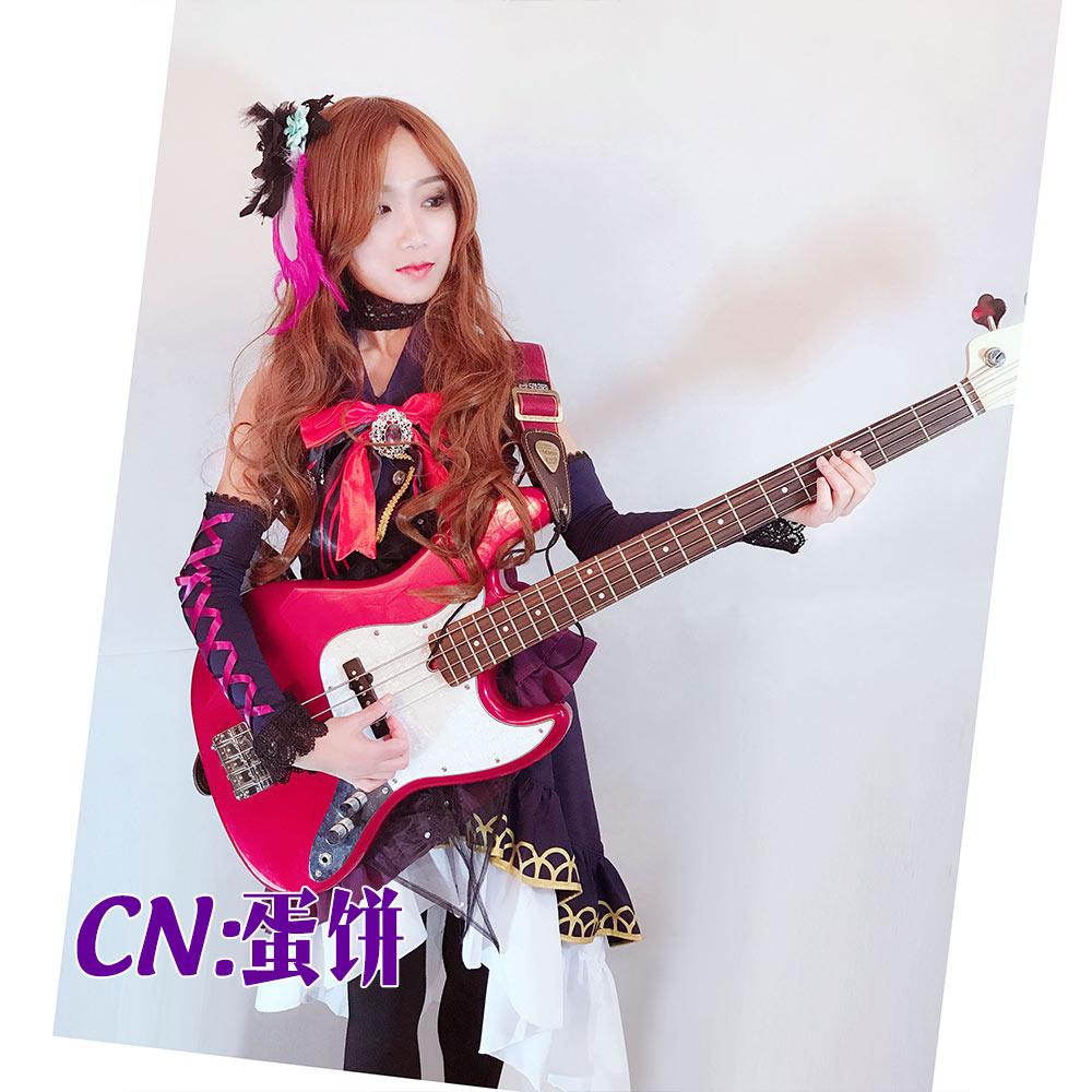 画像1: 激安!! BanG Dream!(バンドリ)  BLACK SHOUT Roselia ロゼリア 今井リサ コスプレ衣装 (1)