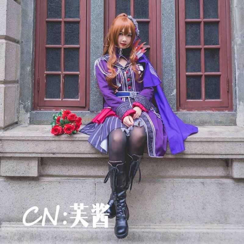 画像1: 「一部在庫」激安!! BanG Dream!(バンドリ) Roselia 3rd live 今井リサ コスプレ衣装 (1)