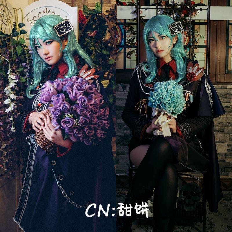 画像1: 「一部在庫」激安!! BanG Dream!(バンドリ) Roselia 3rd live 氷川紗夜 コスプレ衣装 (1)