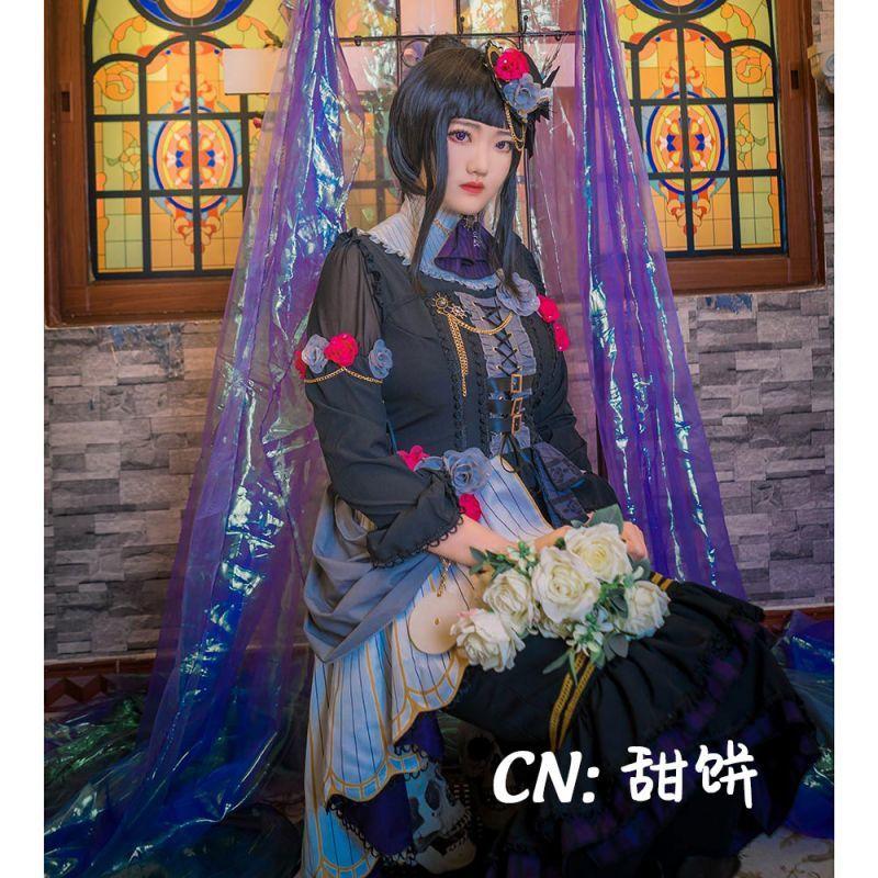 画像1: 激安!! BanG Dream!(バンドリ) Roselia「Neo-Aspect」 白金燐子 コスプレ衣装 (1)