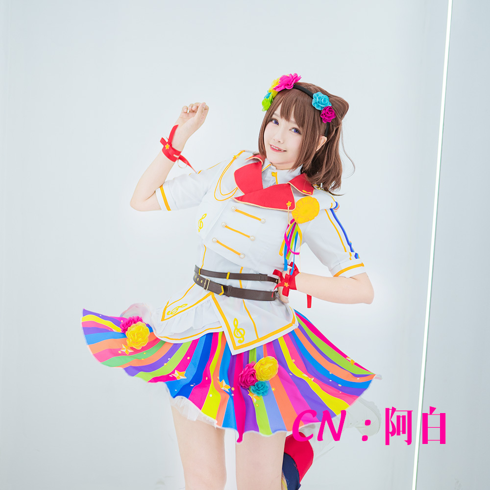 画像1: 激安!! BanG Dream!(バンドリ) Poppin'Party 9th Single「CiRCLING」 戸山香澄 コスプレ衣装 (1)