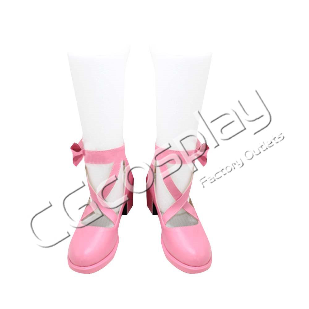 画像1: 激安!! BanG Dream!(バンドリ) Pastel*Palettes 丸山彩 コスプレ靴/ブーツ コスプレ衣装 (1)