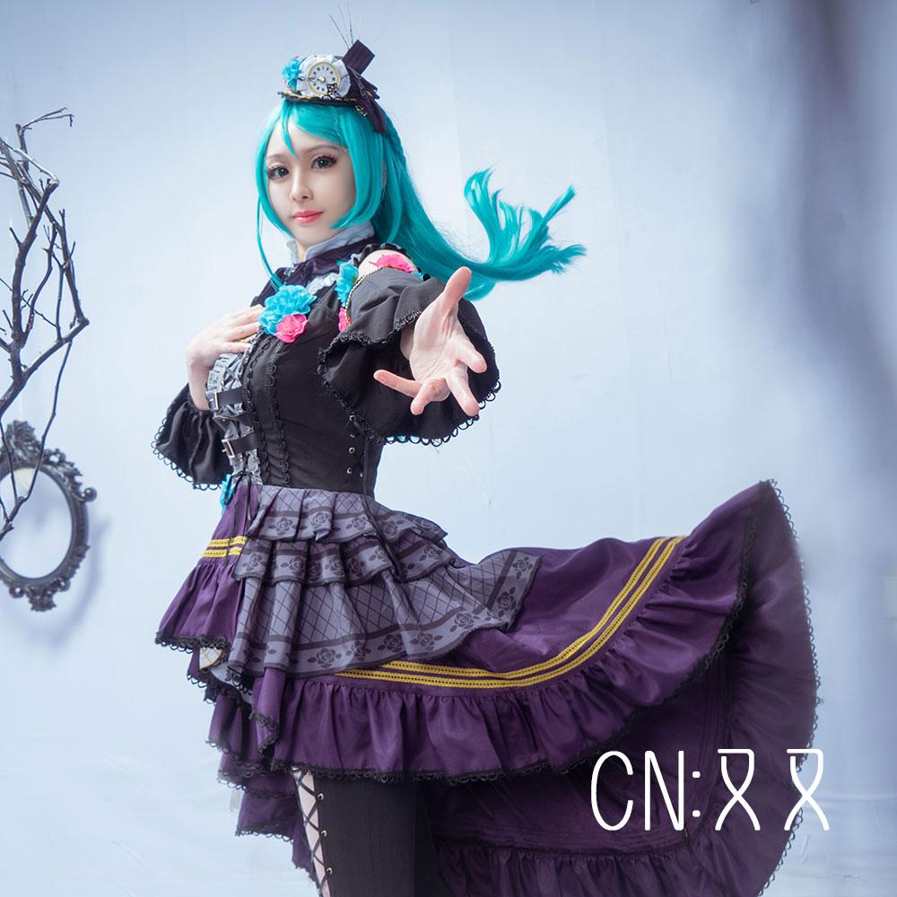 画像1: 激安!! BanG Dream!(バンドリ) Roselia「Neo-Aspect」 氷川紗夜 コスプレ衣装 (1)