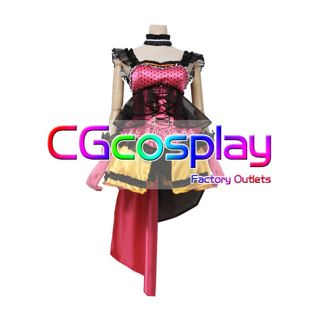 画像1: 激安!! BanG Dream!(バンドリ) Poppin'Party ロミオとシンデレラ 山吹沙綾 コスプレ衣装 (1)