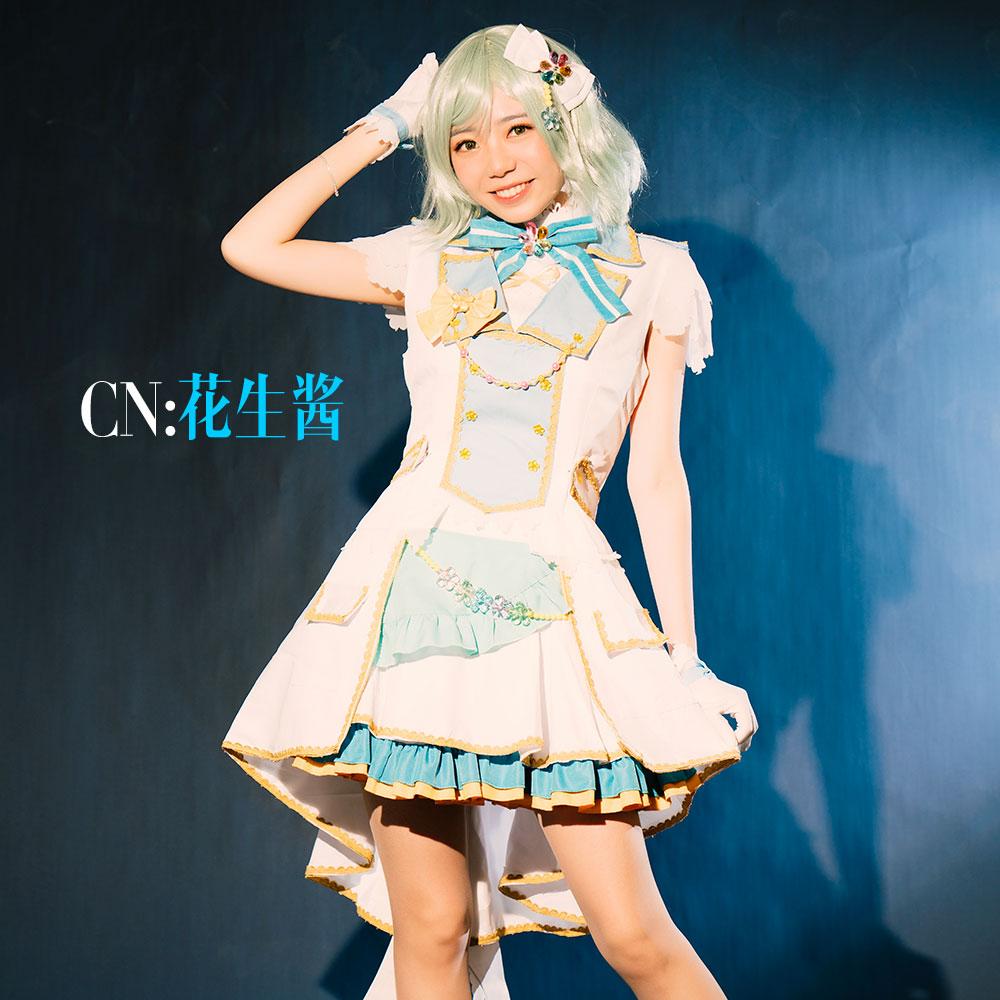 画像1: 激安!! BanG Dream!(バンドリ) Pastel*Palettes セカンドキービジュアル 煌めくステージへ 氷川日菜 コスプレ衣装 (1)