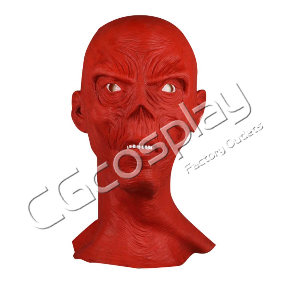 画像1: 激安!! ハロウィン 仮面 レッドスカル マスク かぶりもの 55cm〜62cm コスプレ道具 コスプレ衣装 (1)