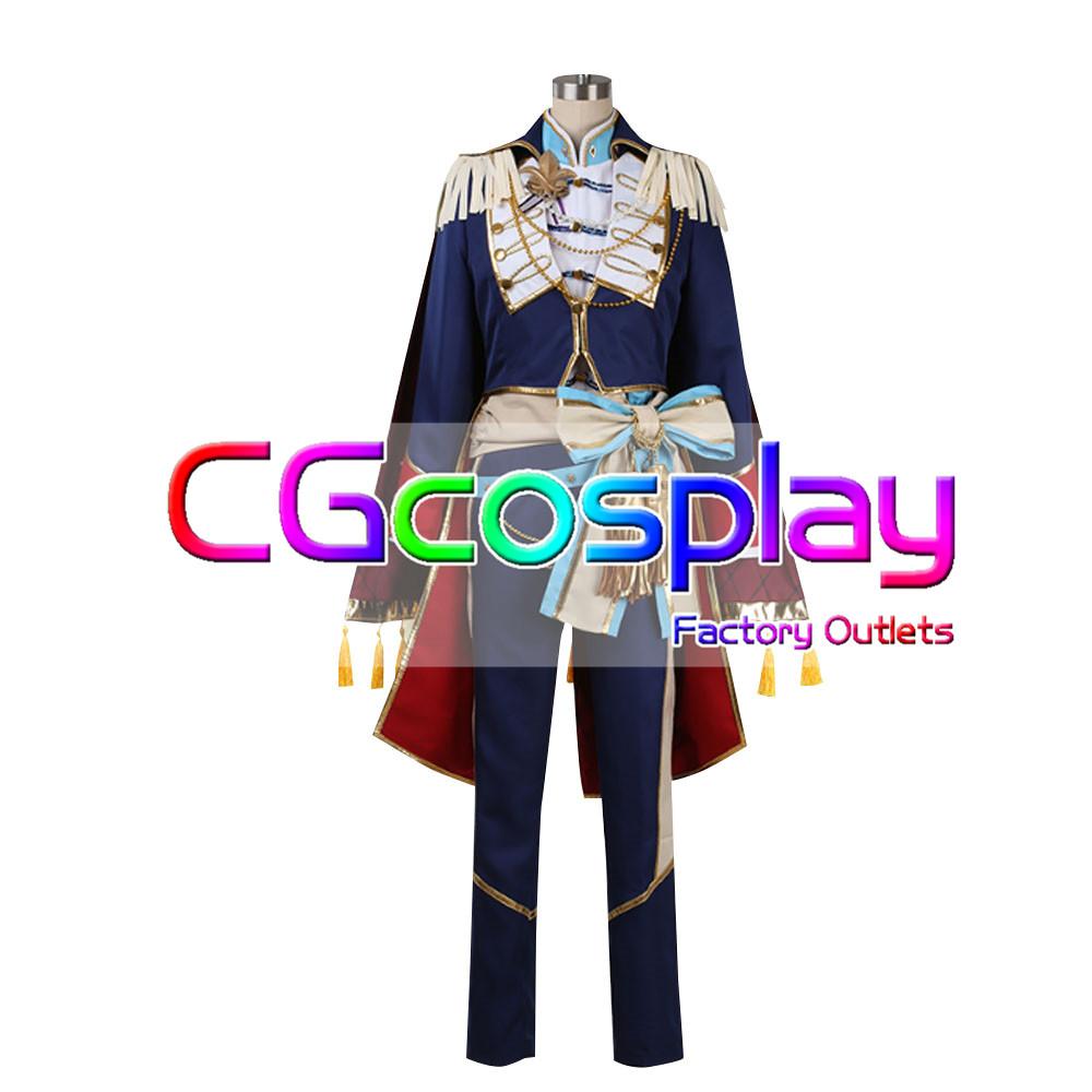 画像1: 激安!! あんさんぶるスターズ! Knights(ナイツ) 返礼祭 朱桜 司 コスプレ衣装 (1)