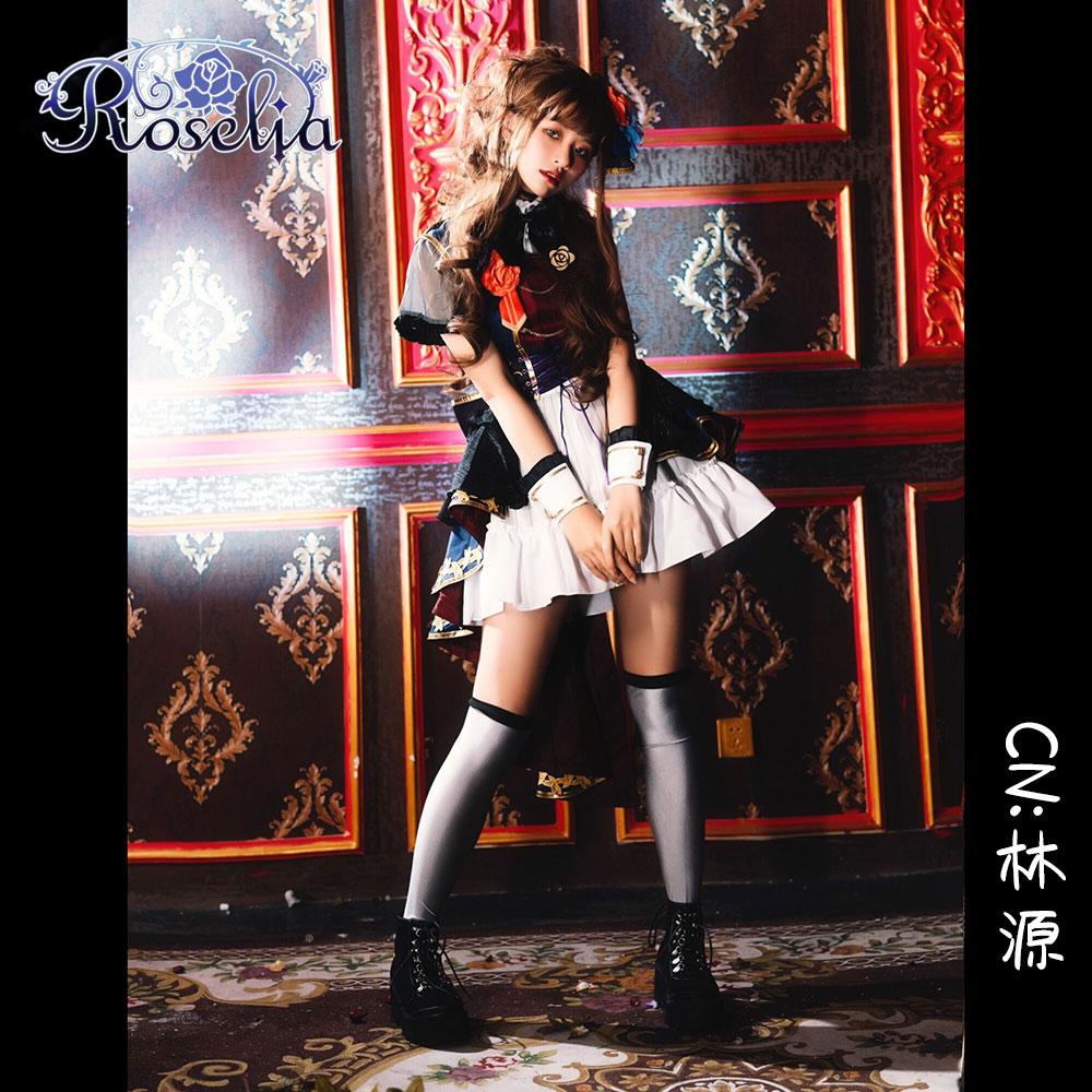 画像1: 激安!! BanG Dream!(バンドリ) 7th☆LIVE Roselia 今井 リサ コスプレ衣装 (1)