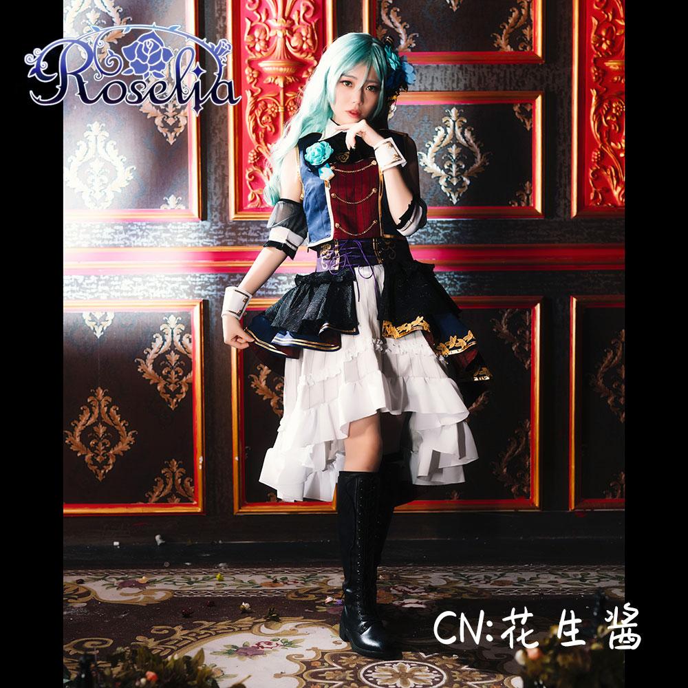 画像1: 激安!! BanG Dream!(バンドリ) 7th☆LIVE Roselia 氷川 紗夜 コスプレ衣装 (1)