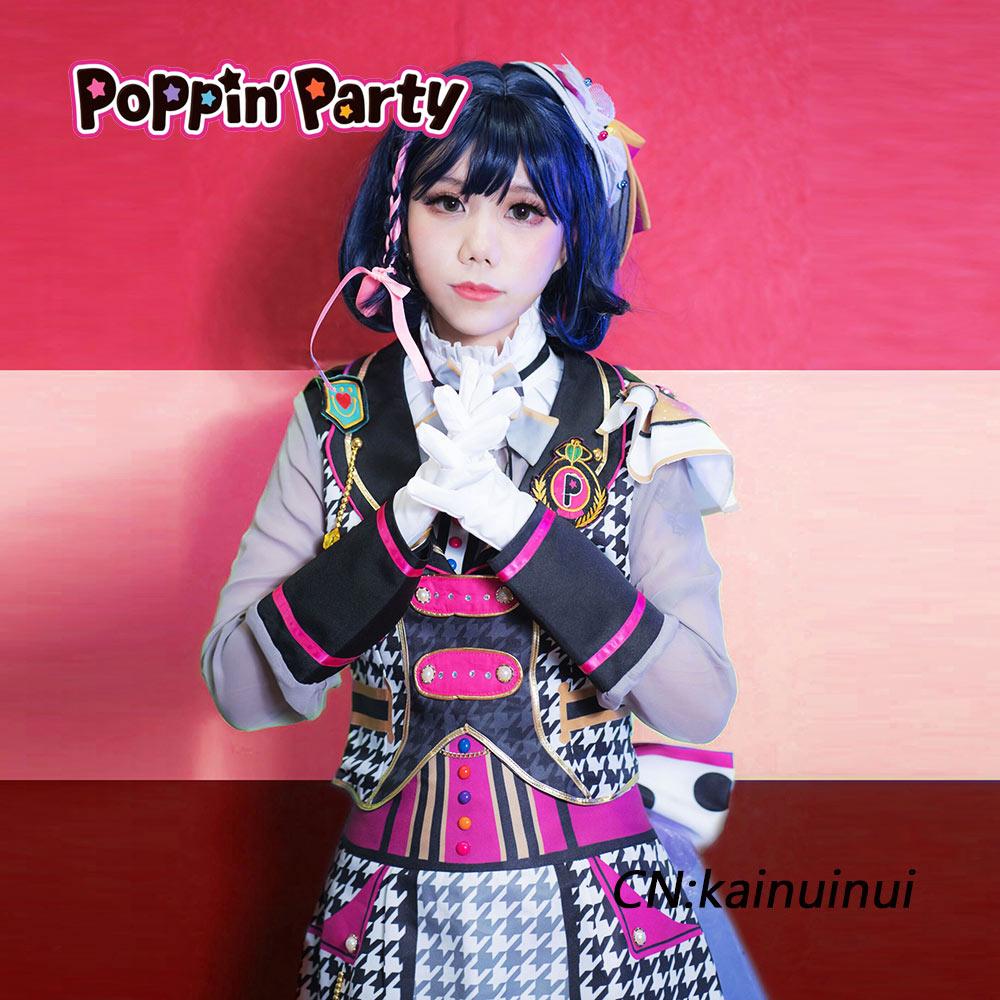 画像1: 激安!! BanG Dream!(バンドリ) Poppin'Party 二重の虹(ダブル レインボウ) 牛込りみ コスプレ衣装 (1)