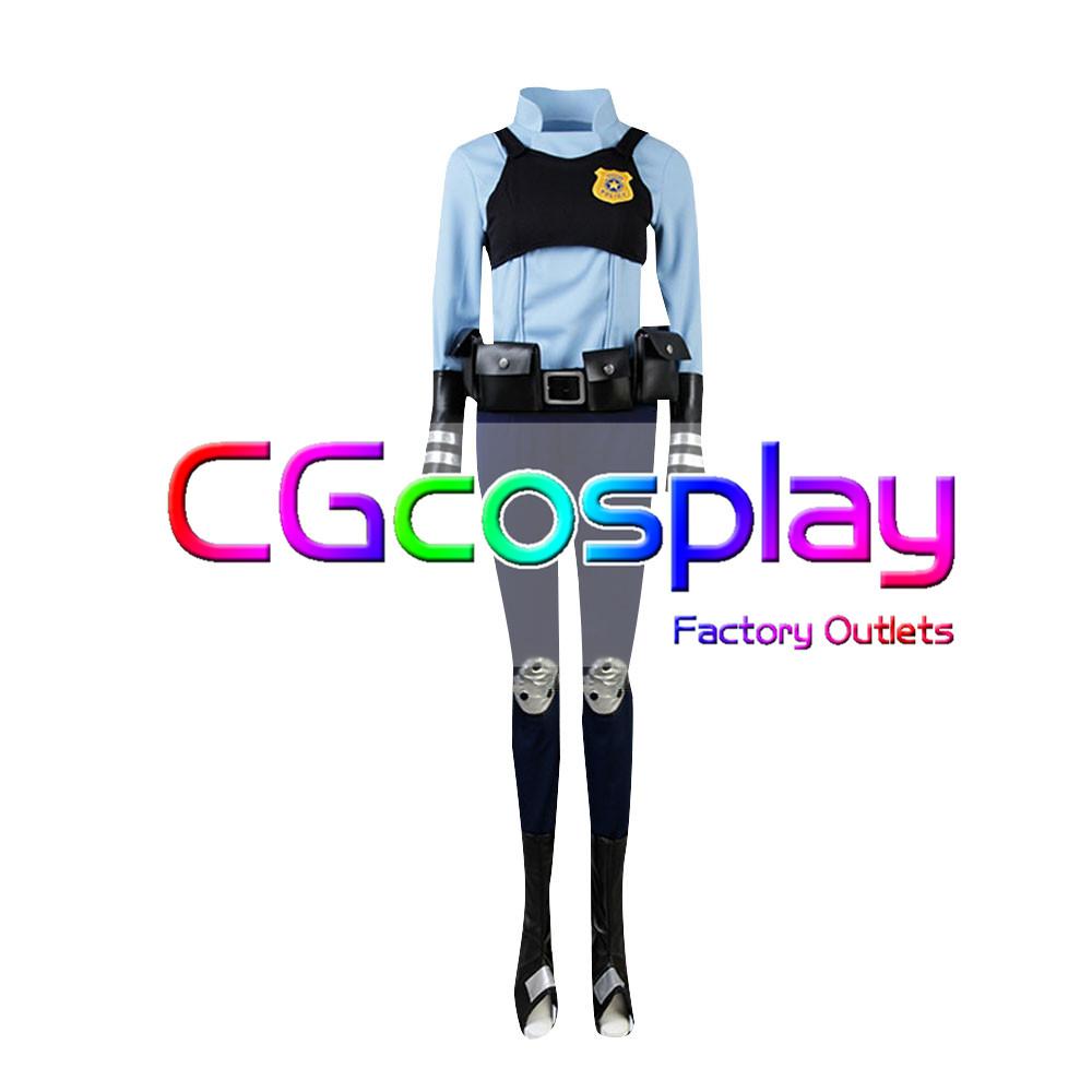 画像1: 激安!! ズートピア ジュディ・ホップス Judy うさぎ 警察官制服 コスプレ衣装 (1)