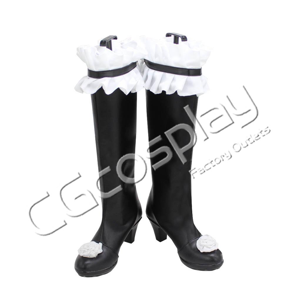 画像1: 激安!! ローゼンメイデン 水銀燈 コスプレ靴/ブーツ コスプレ衣装 (1)