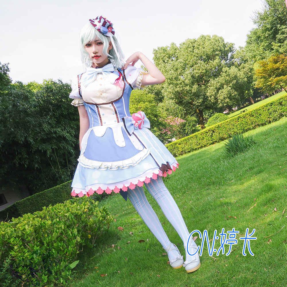 画像1: 激安!! BanG Dream!(バンドリ) Pastel*Palettes 特訓後 未知数の存在 氷川 日菜 コスプレ衣装 (1)
