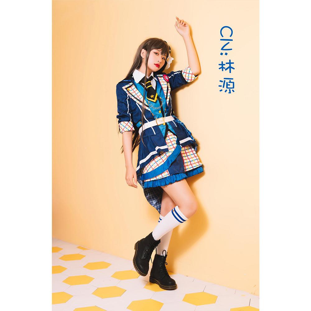 画像1: 激安!! BanG Dream!(バンドリ!) 7th☆LIVE Poppin'Party アニメ 2nd Season OP 新衣装 花園 たえ コスプレ衣装 (1)